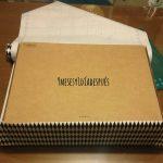 Reutilízame: caja de cartón forrada