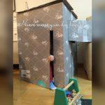 Reutilízame: casita de cartón
