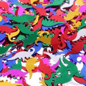 confeti forma dinosaurios