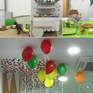 decoración cumple dinosaurios