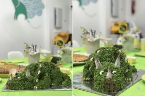 espectacular tarta dinosaurio