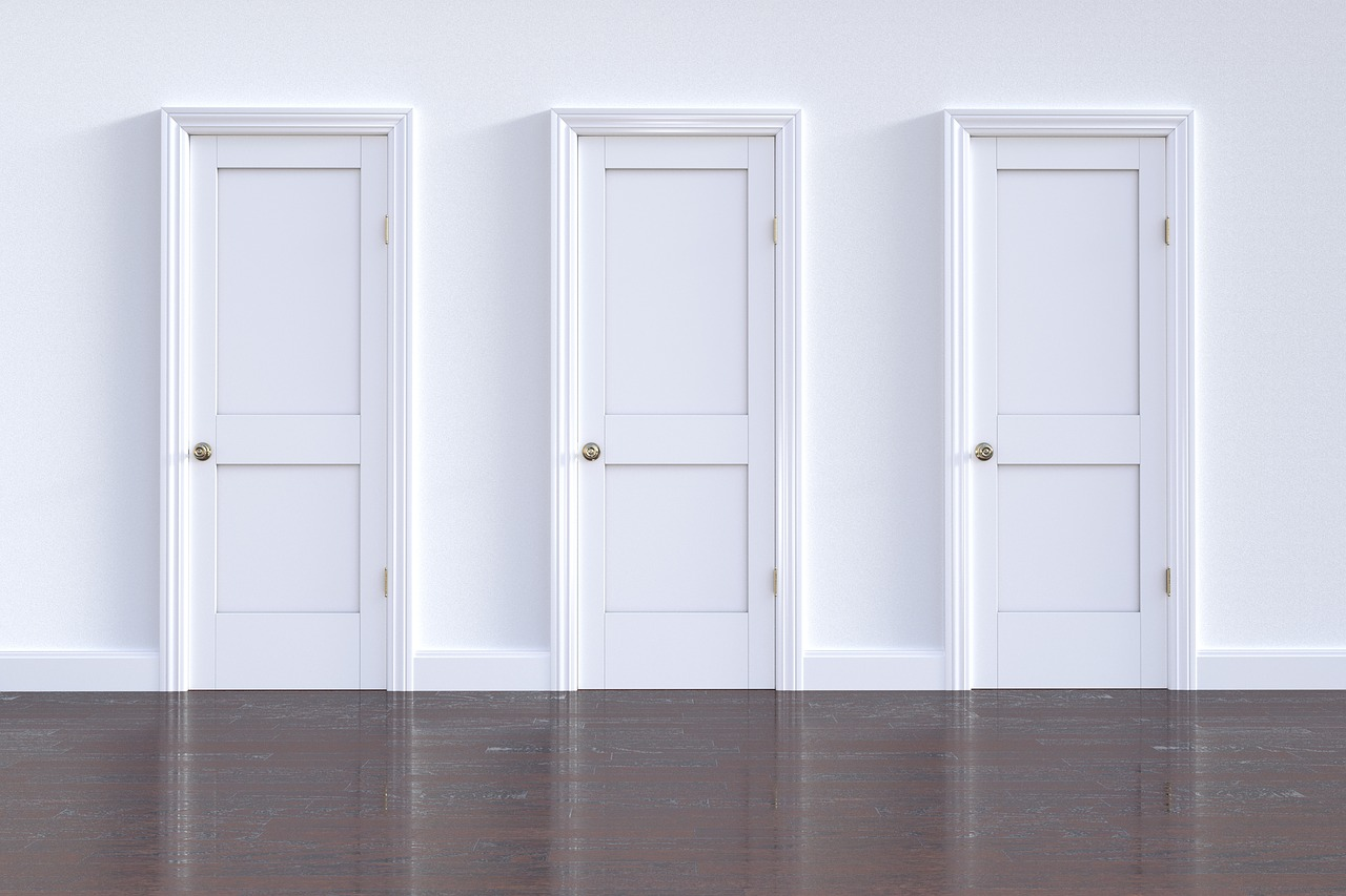3 puertas blancas