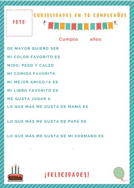 PREGUNTAS DE CUMPLEAÑOS