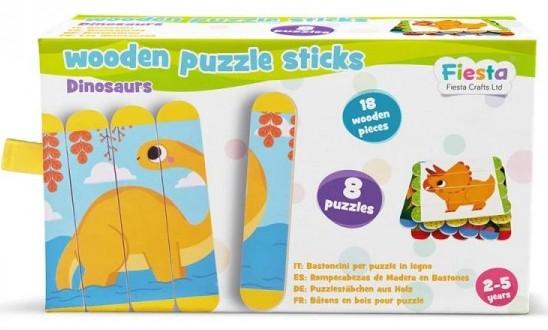 regalo dinosaurios puzles palos